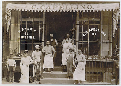1915 Capellino Bakery 81 Sullivan St Little Italy New York City MODERN Post Card