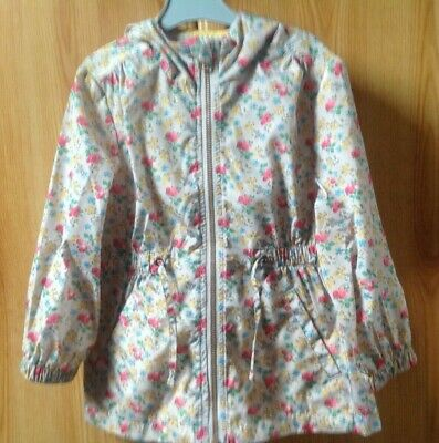 NEXT Girls Pretty Floral Print Lightweight Hooded Jacket Age 4 Years