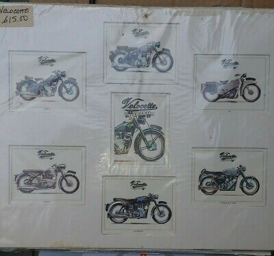 Velocette collectable Motorcycle Cards