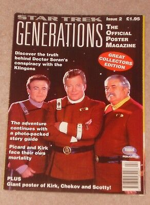 1995 Star Trek Generations Official Poster Magazine Issue 2