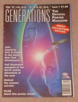 1995 Star Trek Generations Official Poster Magazine Issue 1