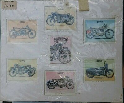 Vincent Hrd Collectable Motorcycle Cards