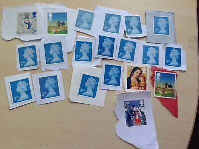 100 GB Unfranked 2nd Class Stamps No Gum FV £65 ( Not for Reuse)