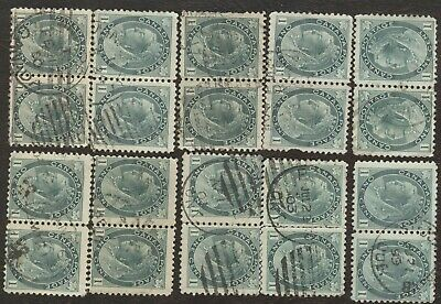 Stamps Canada # 75, 1¢, 1898, lot of 20 used stamps.