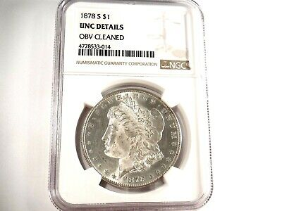 1878-S  U.S. Morgan Silver Dollar $1 - UNC Details - OBV Cleaned - NGC   *N-14