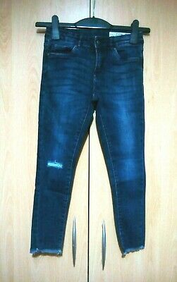 PEPPERTS Girl's Blue Jeans super skinny RIPPED KNEE 9-10 YEARS NEW adjustable BN