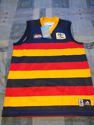 Official New + Tags Adelaide Crows AFL Australia Football Shirt-Jersey 16 Years