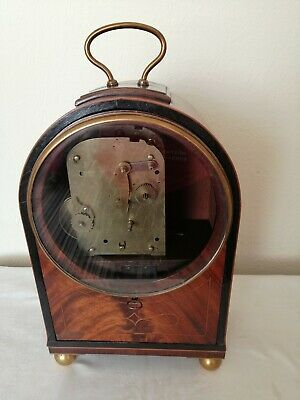 Beautiful Mahogany Cased Bracket Clock, Arched Plate Fusee Movement,Restoration.