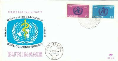 Surinam FDC WHO World Health Organization Suriname bf54