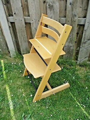 Stokke Tripp Trapp Baby High Chair 2009 Natural Wood Postage Available (SL2)