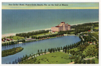 Pass-a-Grille Beach Florida c1940's Don Ce-Sar Hotel, Gulf of Mexico