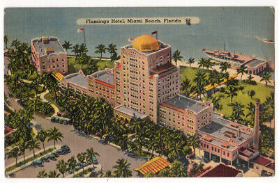 Miami Beach Florida c1940 Flamingo Hotel, demolished in 1960
