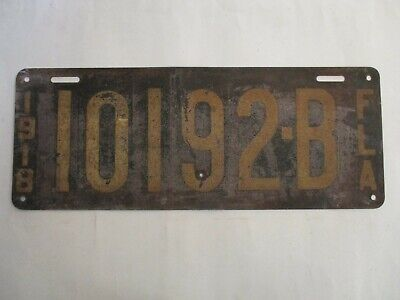 1918 Florida FIRST ISSUE  License Plate Tag