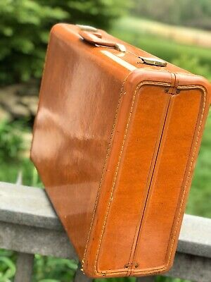 "Vintage Shwayder Bros SAMSONITE  Streamlite Brown 21"" W Suitcase Luggage Exc MCM"