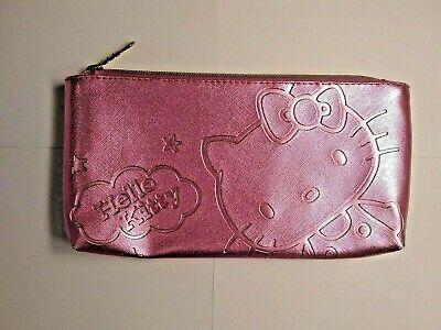 Pink Hello Kitty Pencil Bag Excellent Condition GREAT Find FREE SHIPPING!!