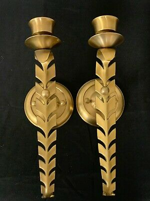 Bombay Company Solid Brass Wall Sconce Candlestick Holders