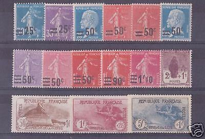 FRANCE STAMP ANNEE COMPLETE 1926 YVERT N° 217 /232 , 15 TIMBRES NEUFS xx LUXE