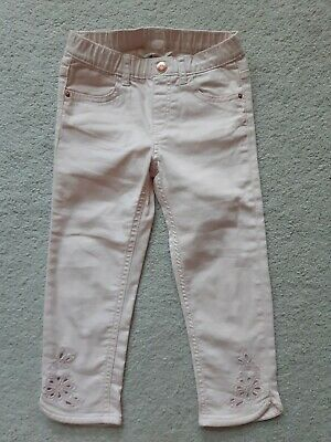 pretty girls cropped pale pink trousers, age 6-7 years NEW