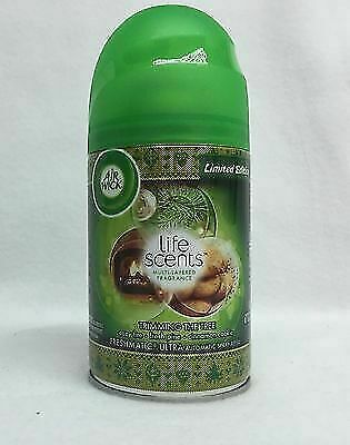 3 Air Wick Freshmatic Ultra Life Scents TRIMMING THE TREE Automatic Spray Refill