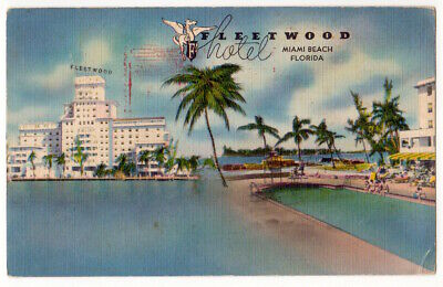 Miami Beach Florida c1950's Hotel Fleetwood, demolished, swimming pool