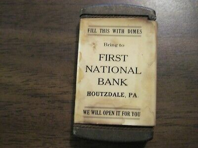 Vintage Rare First National Bank Dime Bank Houtzdale, Pa Clearfield County
