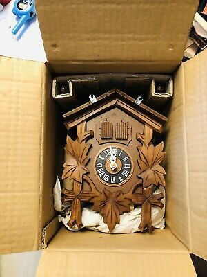 Vintage Black Forest Cuckoo Clock Never Used, In Box Incredible, Addict Find!