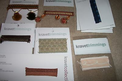 LOT 17 PIECES KRAVETTRIMMINGS Piping Window Trim SAMPLES
