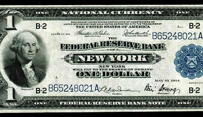 $1 1918 (( NEW YORK )) Federal Reserve National Currency ** MORE MONEY FOR SALE