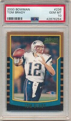 Tom Brady 2000 Bowman #236 Rc Rookie Card New England Patriots Psa 10 Gem Mint
