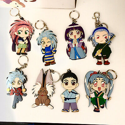 Set of 8 Rubber 2000.TENCHI MUYO Keychains 90s 00s