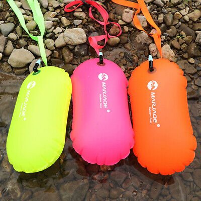 1X PVC Swimming Buoy Safety Air Dry Tow Bag Float Inflatable Signal Drift Bag HR