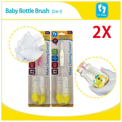2x Bottle Brush Cleaner Baby Milk Cleaning Tool Spout Cup Glass Teapot Washing