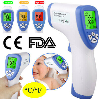 Baby Adult Forehead Thermometer No-Contact Infrared Digital LCD Thermometer UK