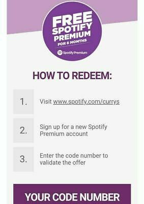 Spotify Premium 6 months free subscription (new accounts) - Currys Genuine code