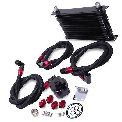 An10 13 Row Alloy Uprated Diy Turbo Track Day Car Oil Cooler & Relocation Kit