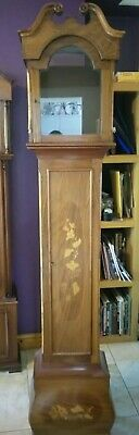 Antique grandfather clock case needs a bit attention see pics lovely inlay