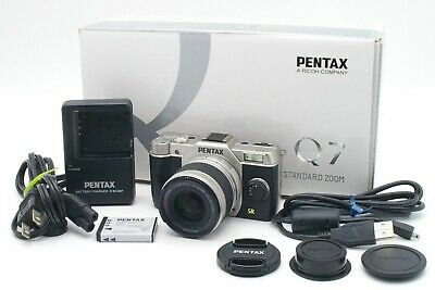 NEAR MINT PENTAX Q7 12.4MP MIRRORLESS DIGITAL CAMERA 5-15mm ZOOM LENS fr JAPAN