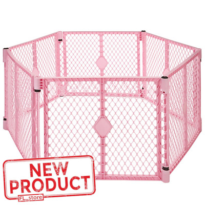 Large Baby Panel Playpen Child Safety Playard Indoor Outdoor Portable Safe Pink