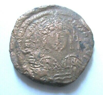 Ae-31 (Follis) of Justinianus I. from Constantinopel mint       Rv. large M