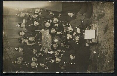 1914 WWI Troops At Sylvester Nacht Winery Photo Postcard