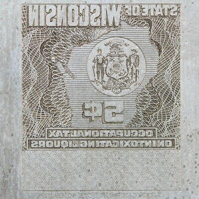 American Bank Note Company: Wisconsin Printing Plates (81255)