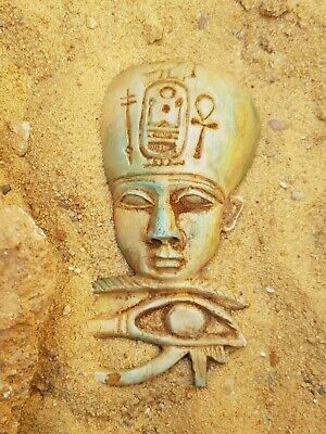 Rare Antique Ancient Egyptian God Bes & Eye of Horus protection fight evil1630BC