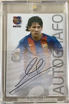 Messi Rookie Card Autografo #89 - Very Good Con
