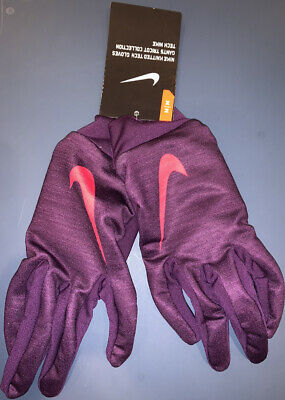 NEW with Tags Nike Womens Knitted Tech Gloves Purple Size M Medium