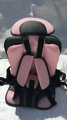 Baby Toddler Car Seat Stroller Cushion-Safety Supports Straps-Soft-Pink Color