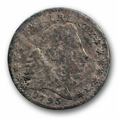 1795 H10C Flowing Hair Half Dime Very Good VG Details Low Mintage Coin