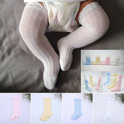 Baby Kids Toddlers Girls Knee High Socks Tights Leg Warmer Stockings Stretchy