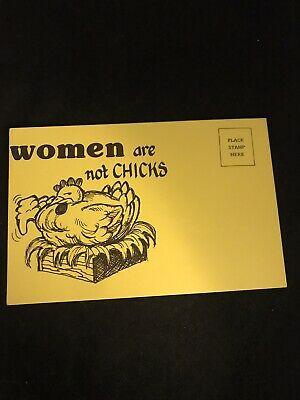 Women are not Chicks Postcard