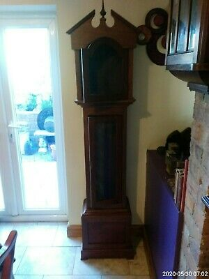 Antique grandfather clock oak case only spares or repair