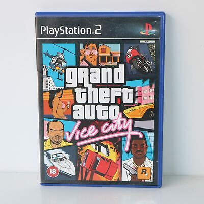 Grand Theft Auto Vice City With Map (GTA) - Sony PlayStation 2 PS2 Game - Mint